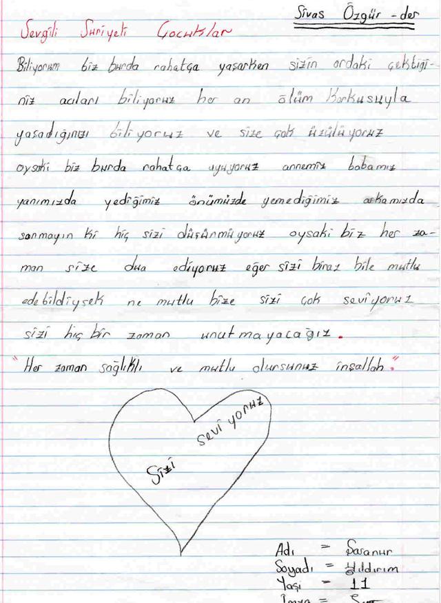 Sivaslı Çocuklardan Suriyeli Kardeşlerine Mektup! 13