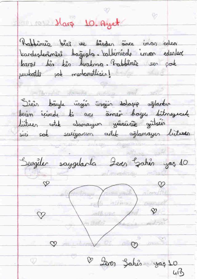 Sivaslı Çocuklardan Suriyeli Kardeşlerine Mektup! 14