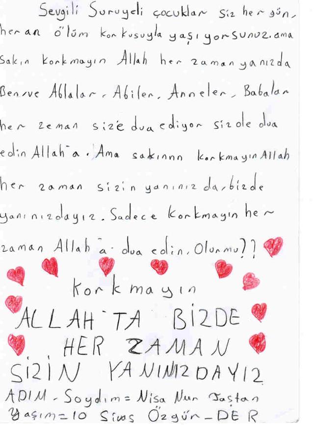 Sivaslı Çocuklardan Suriyeli Kardeşlerine Mektup! 17