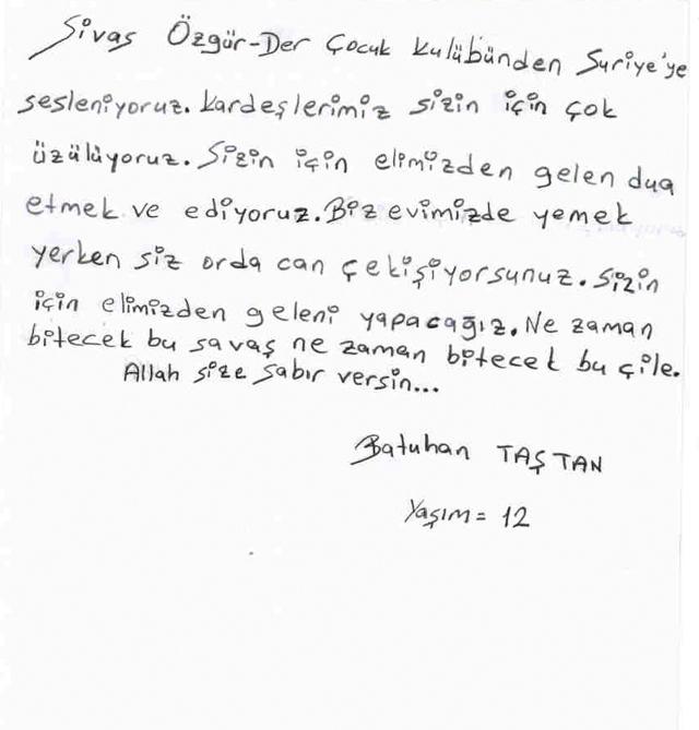 Sivaslı Çocuklardan Suriyeli Kardeşlerine Mektup! 18