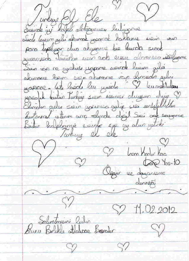 Sivaslı Çocuklardan Suriyeli Kardeşlerine Mektup! 19