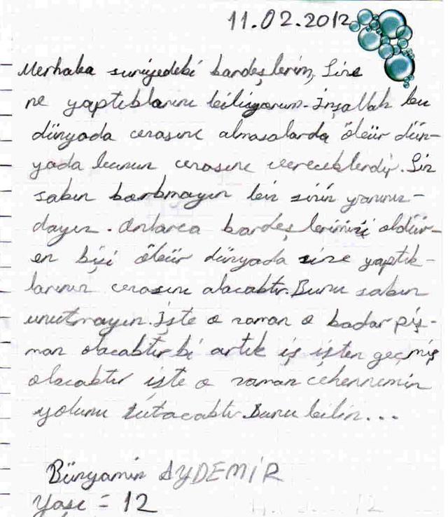 Sivaslı Çocuklardan Suriyeli Kardeşlerine Mektup! 2