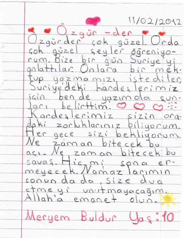 Sivaslı Çocuklardan Suriyeli Kardeşlerine Mektup! 20
