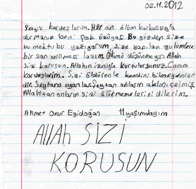 Sivaslı Çocuklardan Suriyeli Kardeşlerine Mektup! 5