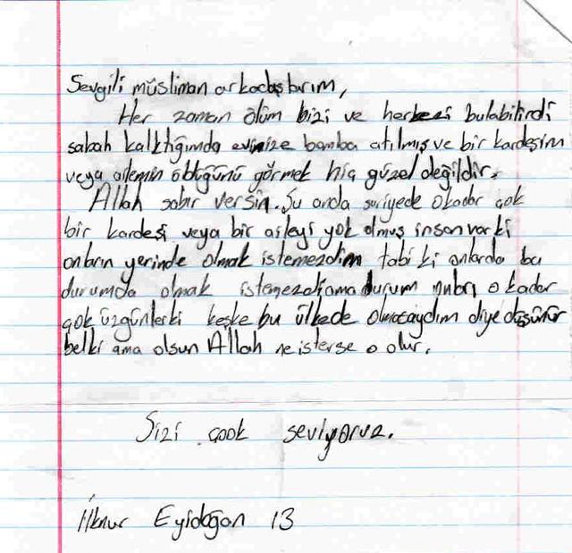 Sivaslı Çocuklardan Suriyeli Kardeşlerine Mektup! 6
