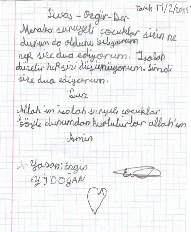 Sivaslı Çocuklardan Suriyeli Kardeşlerine Mektup! 7