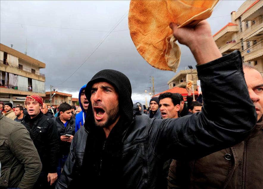 Lübnan-Suriye Sınırında Madaya Protestosu 1