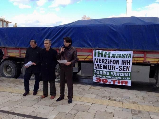 Amasya'dan Mazlum Suriye Halkına Kış Desteği 1