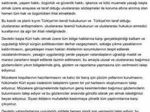 1100 Akademisyenden PKK'ye Destek Bildirisi