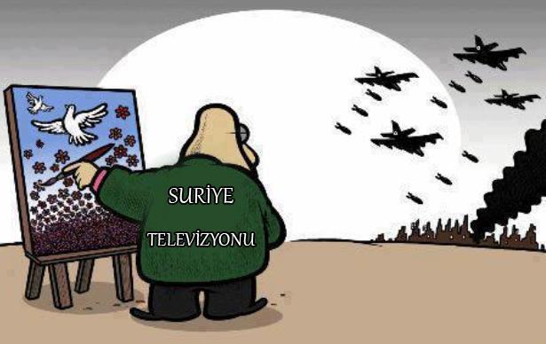 Suriye Televizyonu Katliamı Nasıl Gösteriyor 1