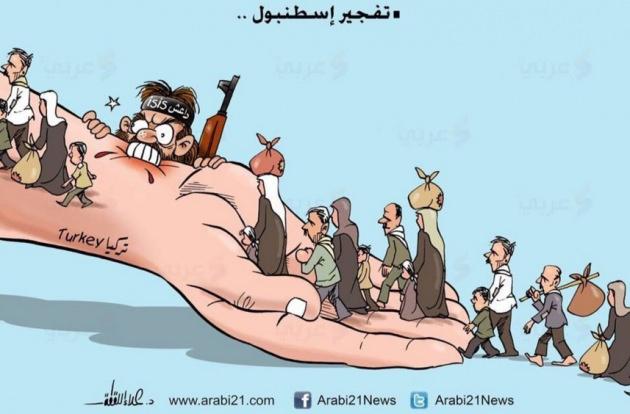 Filistinli Ressamdan Anlamlı Sultanahmet Karikatürü 1