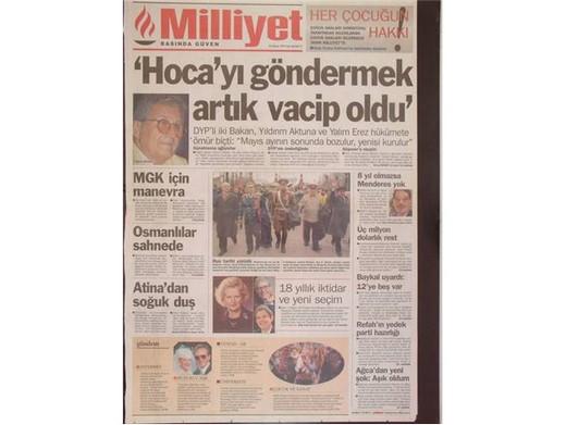 28 Şubat'ta Darbeci Medyanın Manşetleri 27