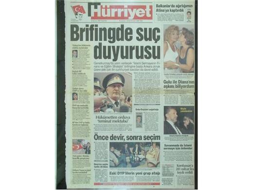 28 Şubat'ta Darbeci Medyanın Manşetleri 29