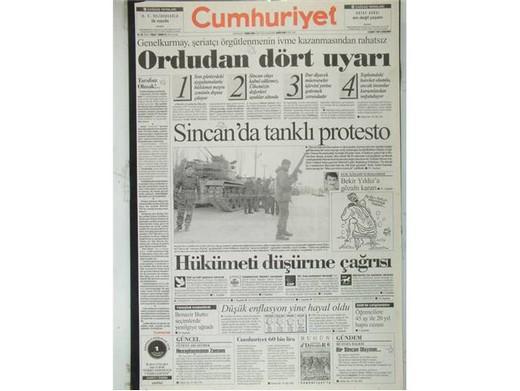 28 Şubat'ta Darbeci Medyanın Manşetleri 36