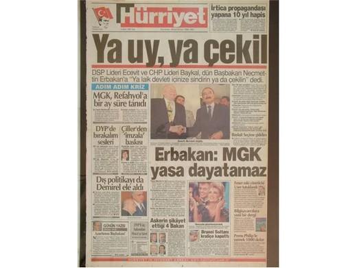 28 Şubat'ta Darbeci Medyanın Manşetleri 4