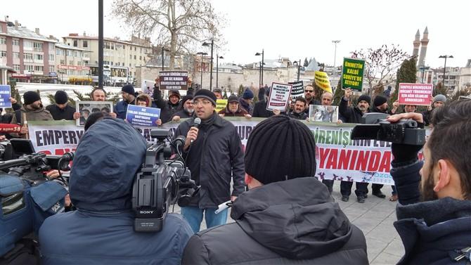 Sivas Özgür-Der Esed-İran-Rusya'nın Halep Kuşatmasını protesto Etti 1