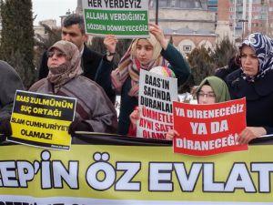 Sivas Özgür-Der Esed-İran-Rusya'nın Halep Kuşatmasını protesto Etti