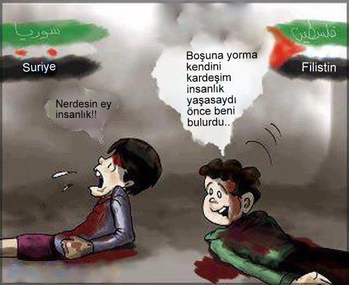 Filistinli Çocuktan Suriyeli Çocuğa Nasihat galerisi resim 1