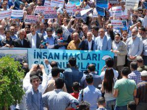 Dürümlü Katliamı Diyarbakır'da Protesto Edildi
