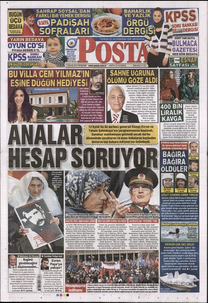 Gazete Manşetlerinde 12 Eylül Davası 10
