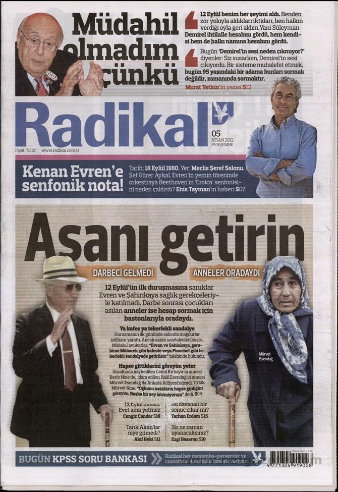 Gazete Manşetlerinde 12 Eylül Davası 11