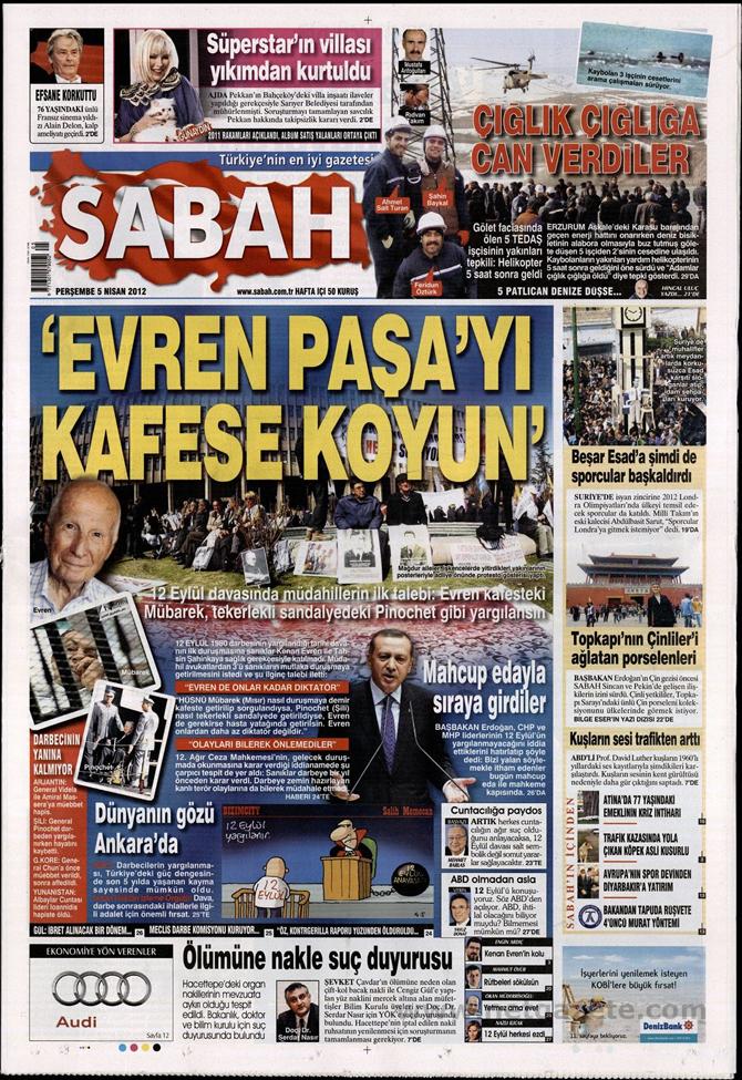 Gazete Manşetlerinde 12 Eylül Davası 12