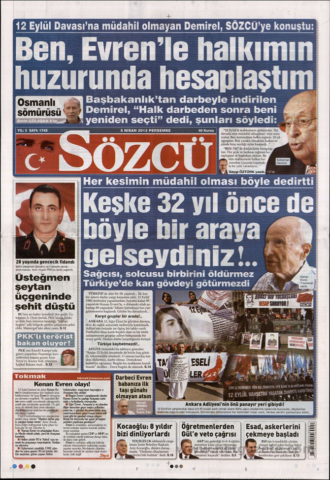Gazete Manşetlerinde 12 Eylül Davası 13