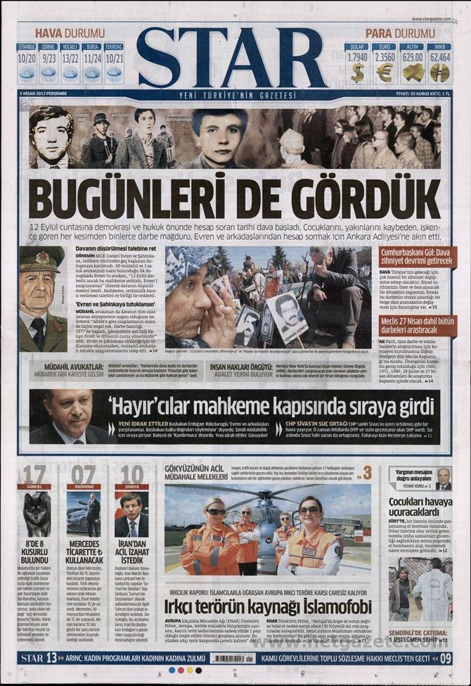 Gazete Manşetlerinde 12 Eylül Davası 14