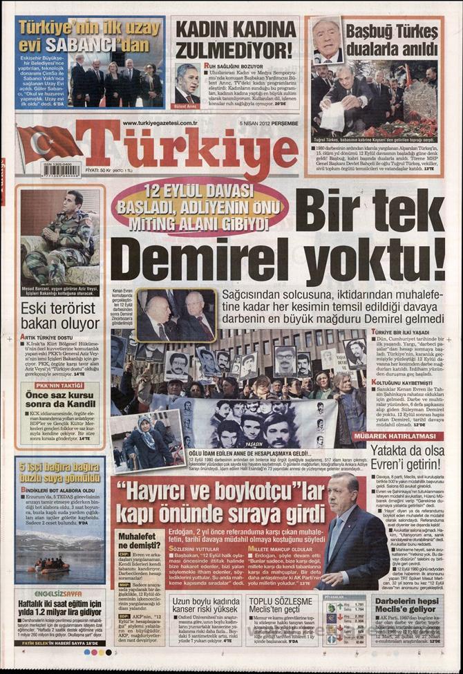 Gazete Manşetlerinde 12 Eylül Davası 17