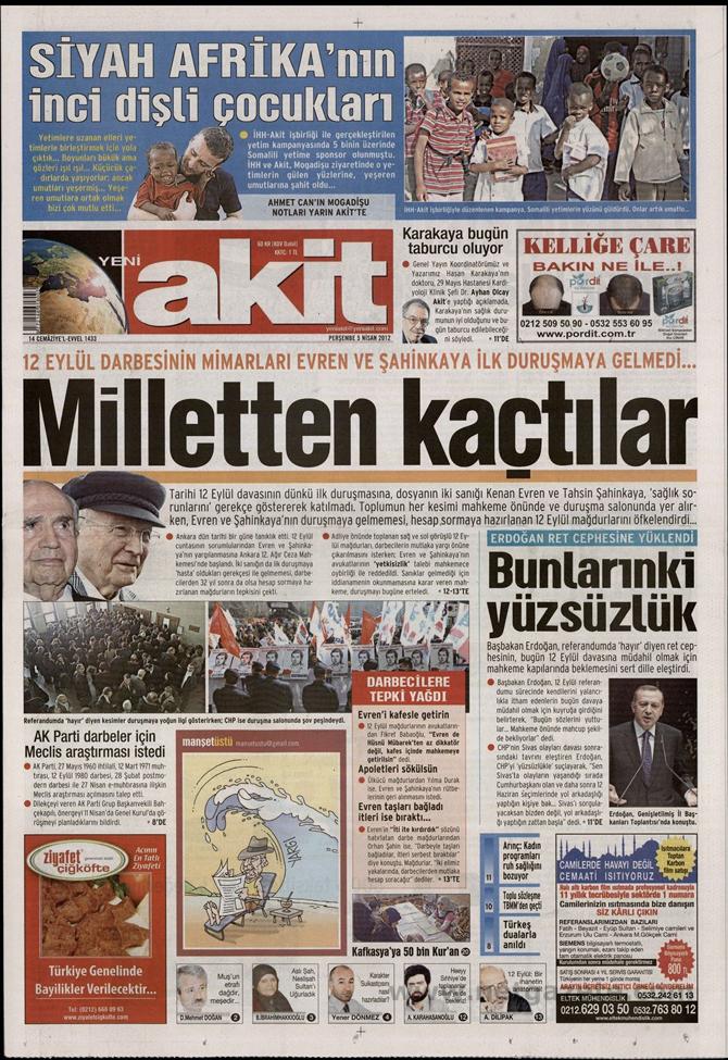 Gazete Manşetlerinde 12 Eylül Davası 18