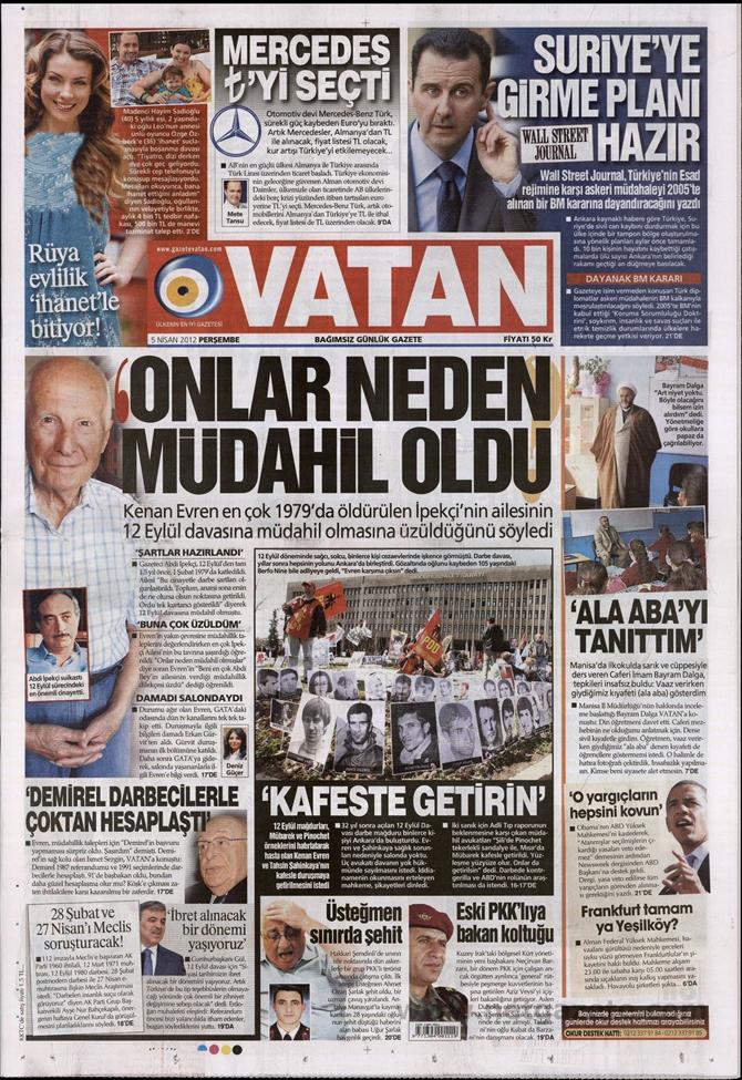 Gazete Manşetlerinde 12 Eylül Davası 19