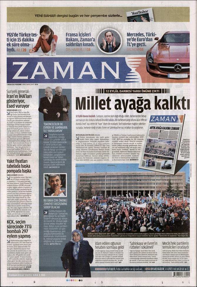 Gazete Manşetlerinde 12 Eylül Davası 22