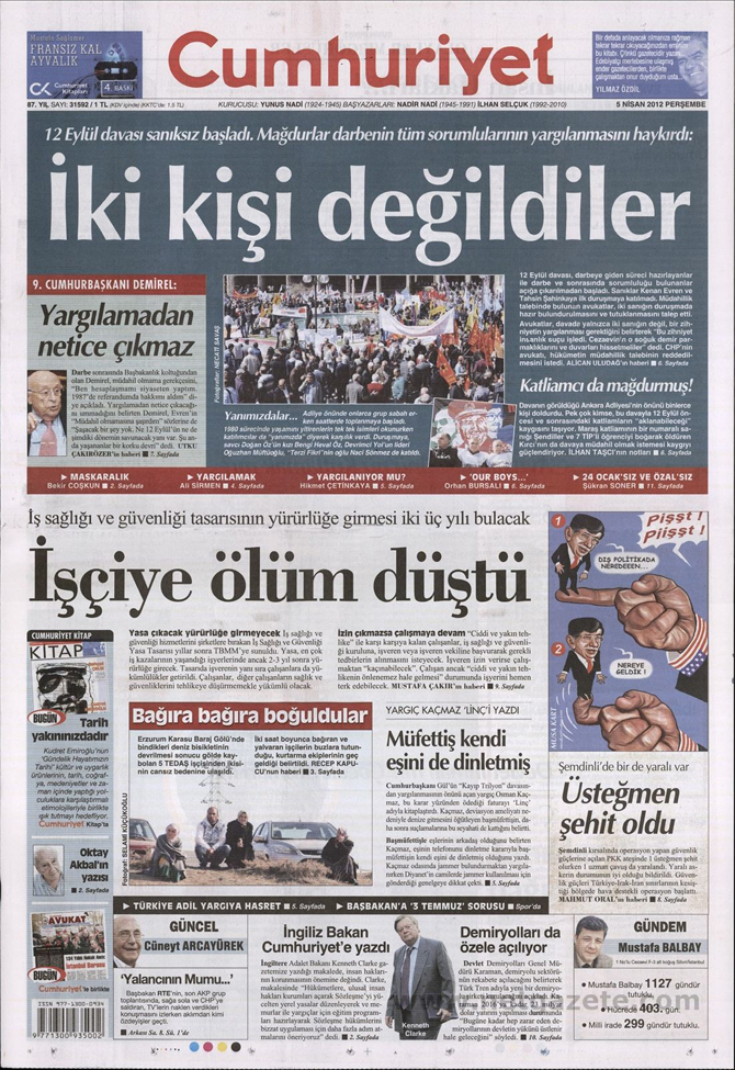 Gazete Manşetlerinde 12 Eylül Davası 4