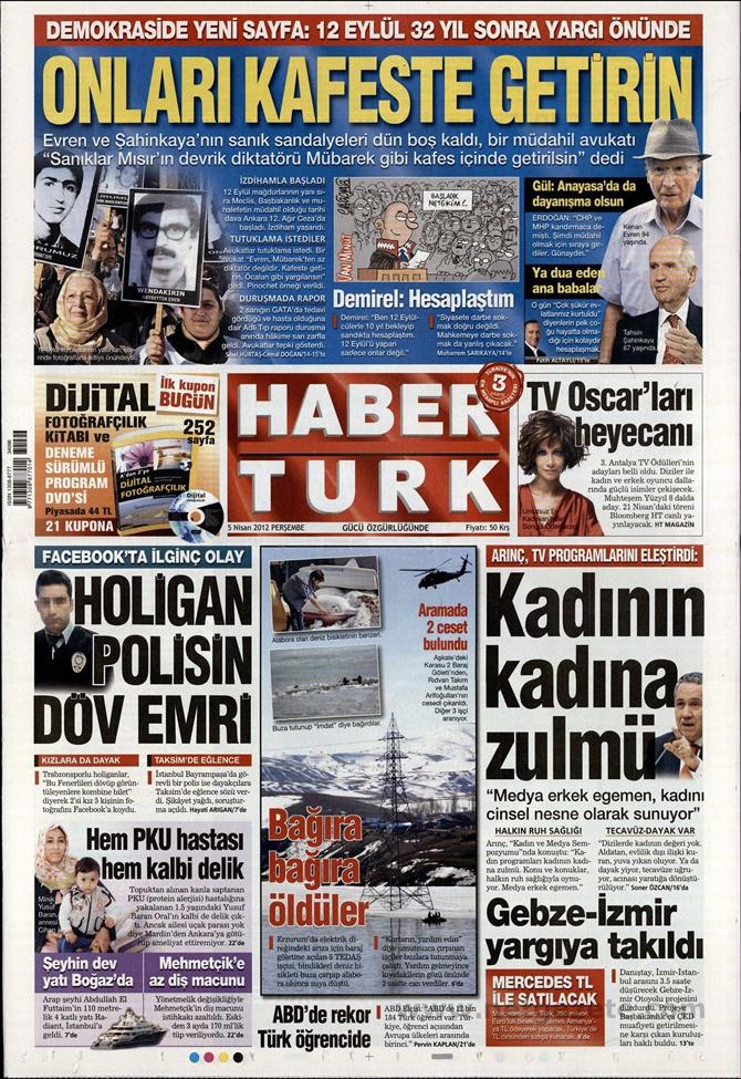 Gazete Manşetlerinde 12 Eylül Davası 6