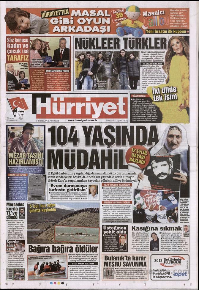 Gazete Manşetlerinde 12 Eylül Davası 7