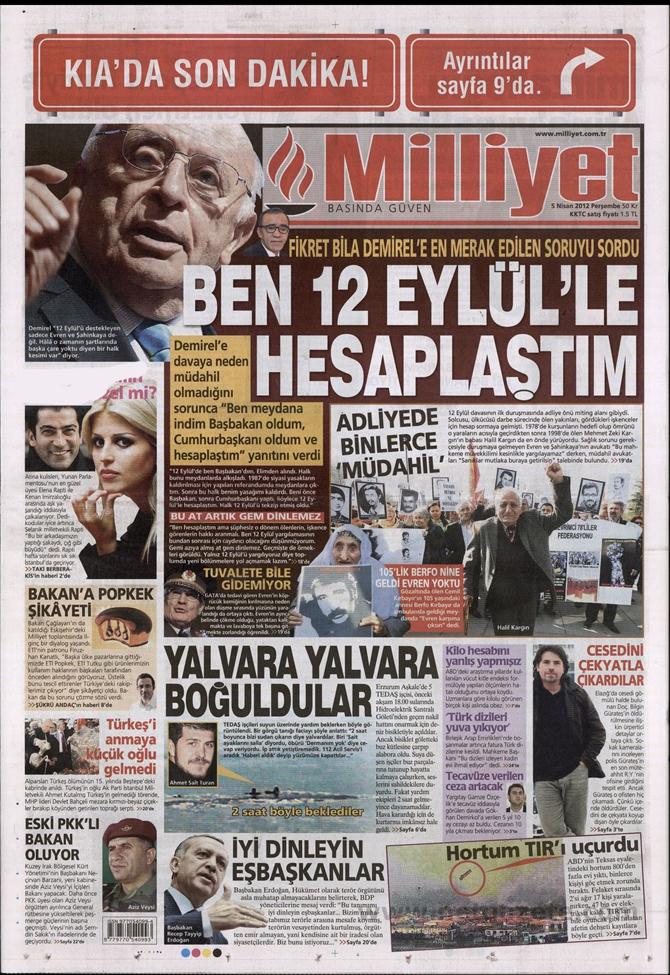 Gazete Manşetlerinde 12 Eylül Davası 9