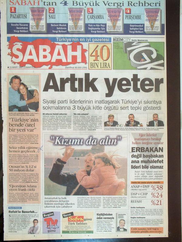 28 Şubatın Unutulmaz Manşetleri 43