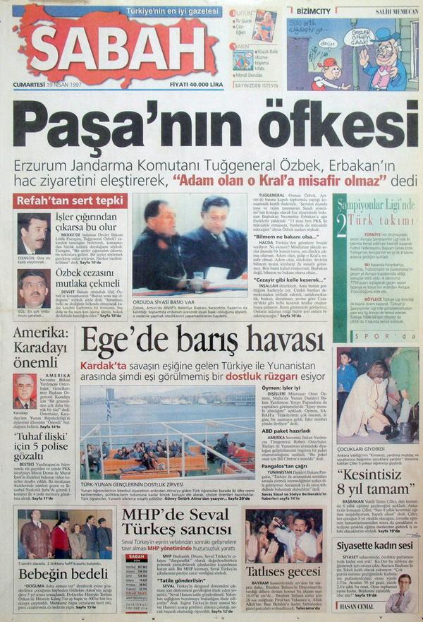 28 Şubatın Unutulmaz Manşetleri 9