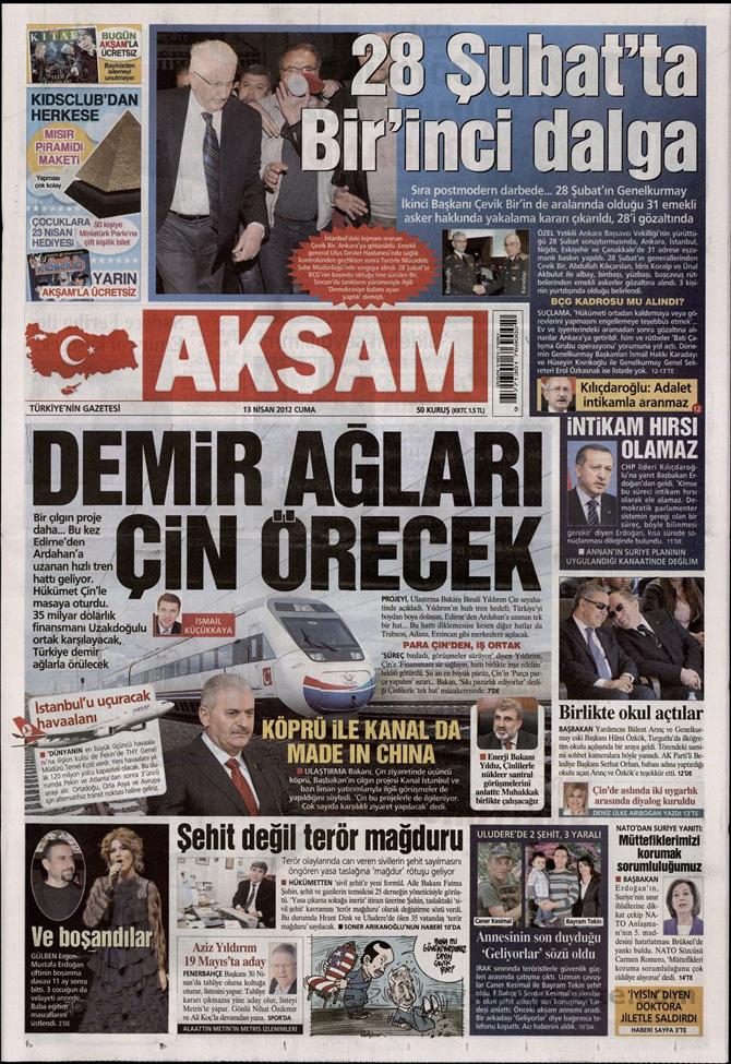 Gazete Manşetlerinde 28 Şubat Operasyonu 1