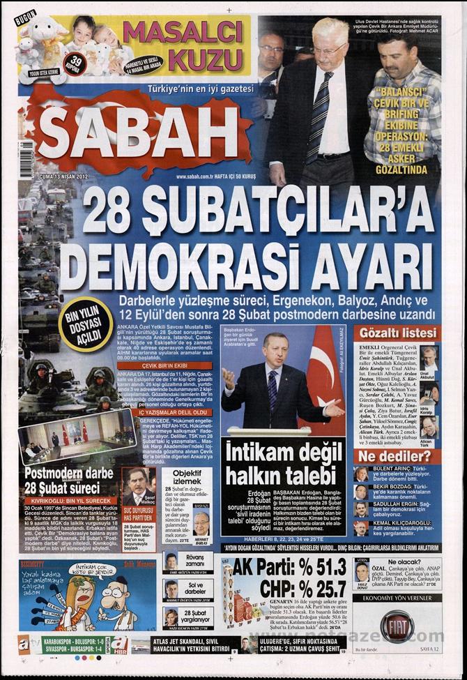Gazete Manşetlerinde 28 Şubat Operasyonu 13