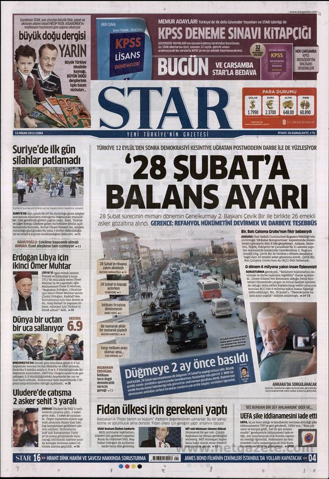 Gazete Manşetlerinde 28 Şubat Operasyonu 15