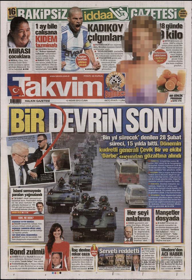 Gazete Manşetlerinde 28 Şubat Operasyonu 16