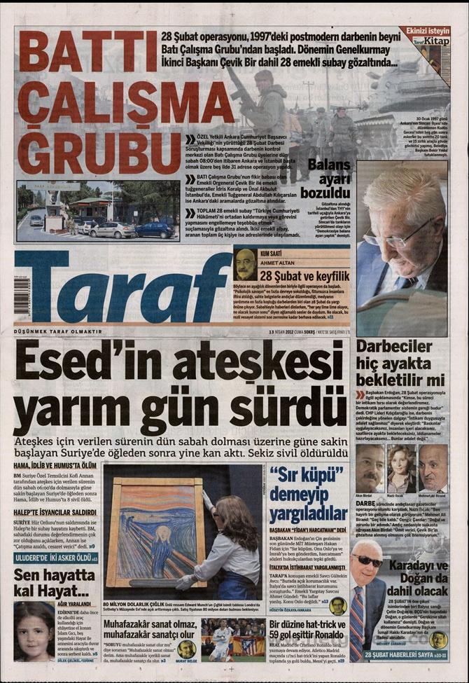 Gazete Manşetlerinde 28 Şubat Operasyonu 17