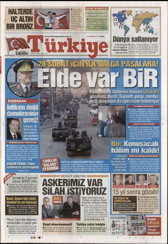 Gazete Manşetlerinde 28 Şubat Operasyonu 18