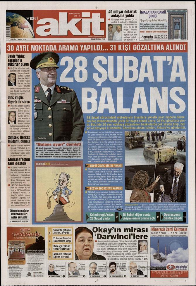 Gazete Manşetlerinde 28 Şubat Operasyonu 19
