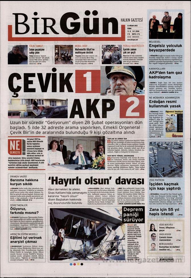 Gazete Manşetlerinde 28 Şubat Operasyonu 2