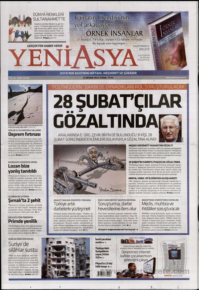 Gazete Manşetlerinde 28 Şubat Operasyonu 21