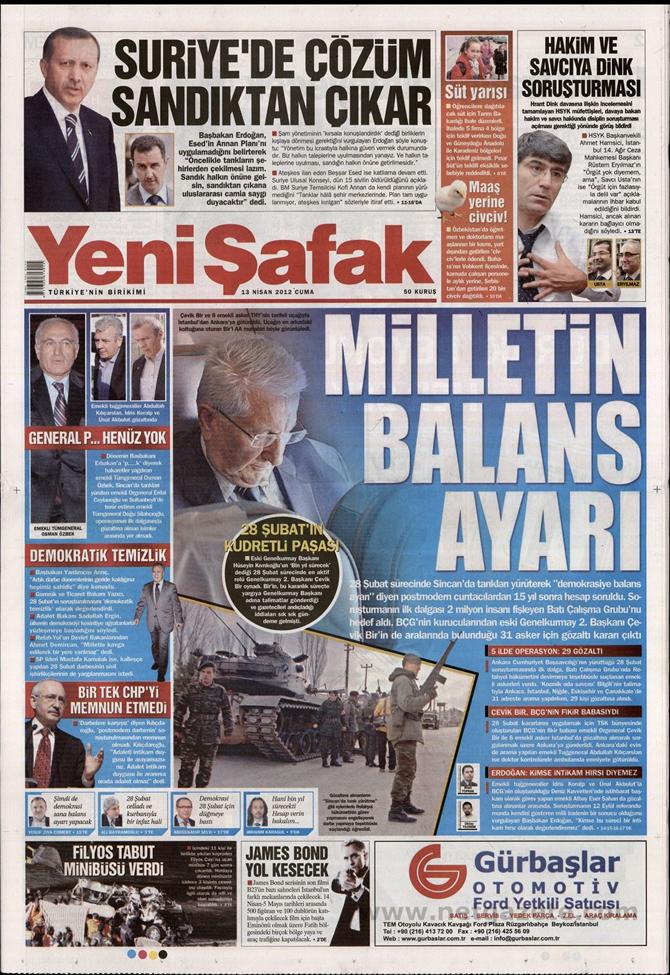 Gazete Manşetlerinde 28 Şubat Operasyonu 22
