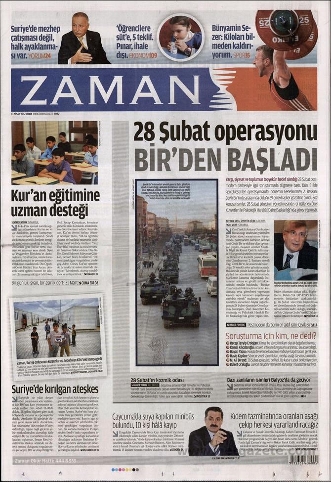 Gazete Manşetlerinde 28 Şubat Operasyonu 23