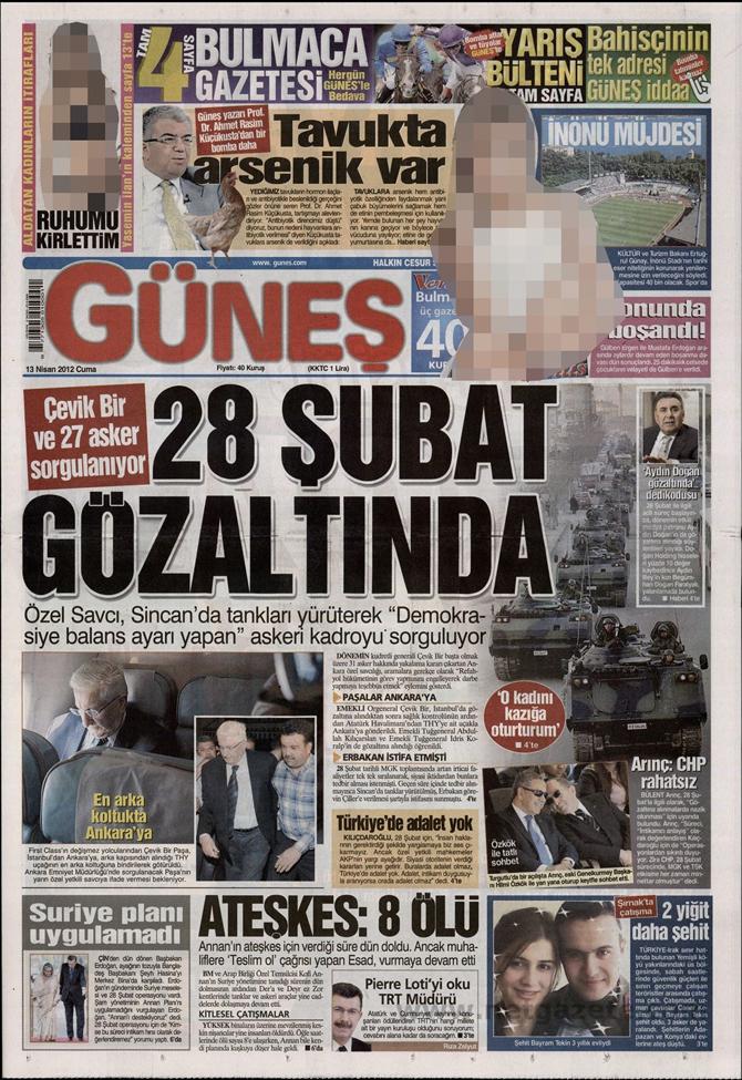 Gazete Manşetlerinde 28 Şubat Operasyonu 5